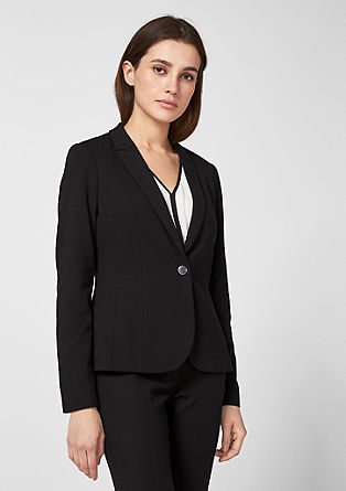 Fitted jersey blazer from s.Oliver