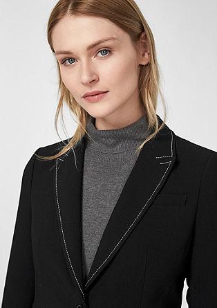 Elegante blazer met siernaad