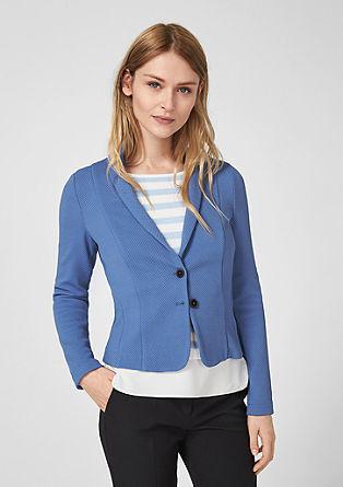Short textured blazer from s.Oliver