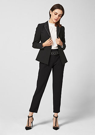 Elegant 7/8-length cloth trousers with a belt from s.Oliver