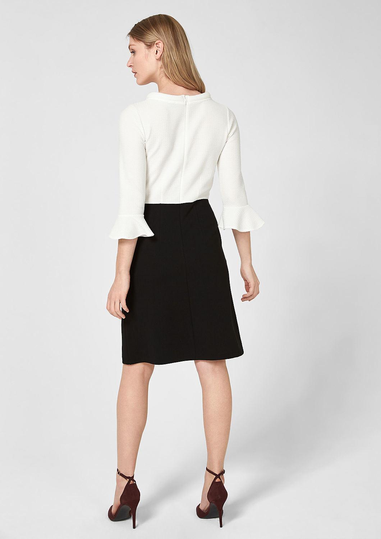s.Oliver - Black and White-Kleid mit Struktur - 2