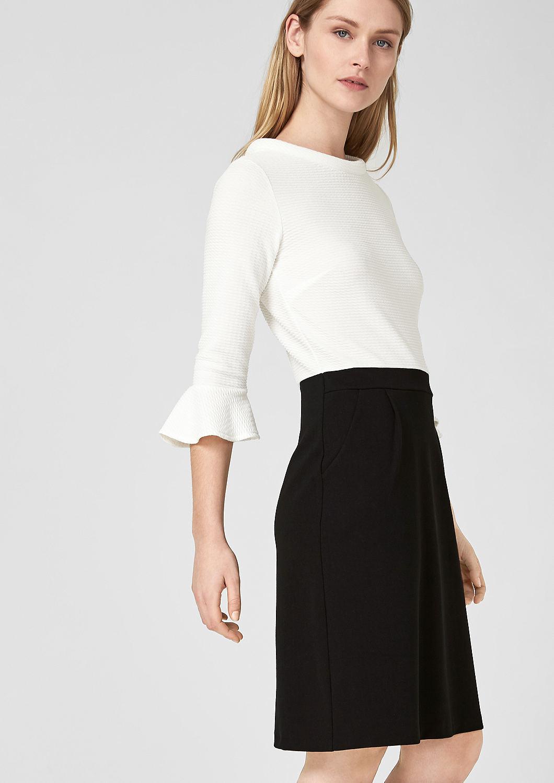 s.Oliver - Black and White-Kleid mit Struktur - 4