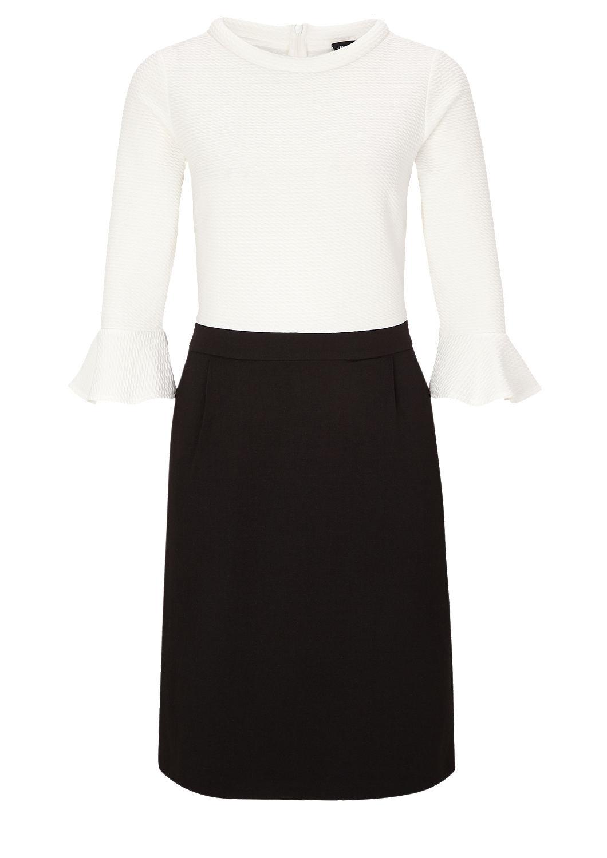 s.Oliver - Black and White-Kleid mit Struktur - 3