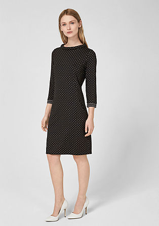 Polka dot dress in jacquard jersey from s.Oliver