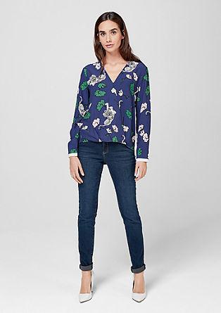 Viscose blouse met wikkellook
