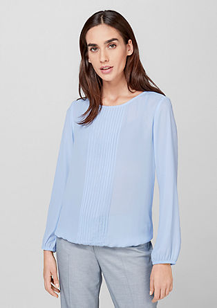 Blouse with pintuck pleats from s.Oliver
