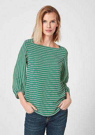 Blusenshirt mit Carrée-Ausschnitt