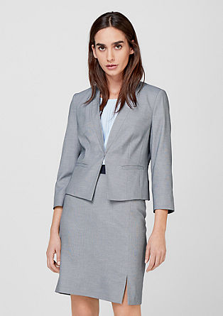 Cropped end-on-end blazer from s.Oliver