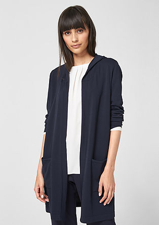 Long cardigan with hood from s.Oliver