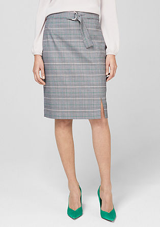 Pencil Skirt mit Glencheck-Muster