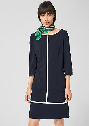 Shift dress with contrast stripes from s.Oliver