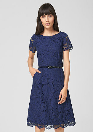 Fitted lace dress with a belt from s.Oliver