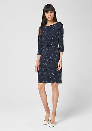 Stretch dress with draping from s.Oliver