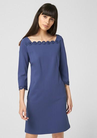 Jerseykleid mit Ornament-Spitze