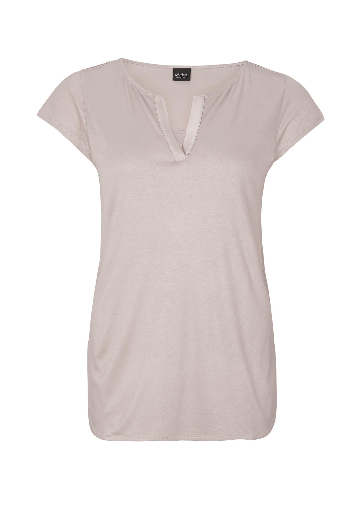 Tunikashirt | Bekleidung > Shirts > Tunikashirts | Beige | Oberstoff a 100% viskose| oberstoff b: 96% polyester -  4% elasthan | s.Oliver BLACK LABEL
