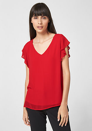 Blouse with cap sleeves from s.Oliver