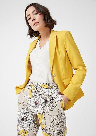 Taillierter Blazer mit Glanzknöpfen