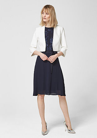 Short blazer with 3/4-length sleeves from s.Oliver