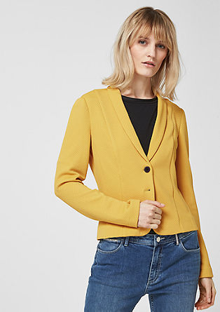 Textured fitted blazer from s.Oliver