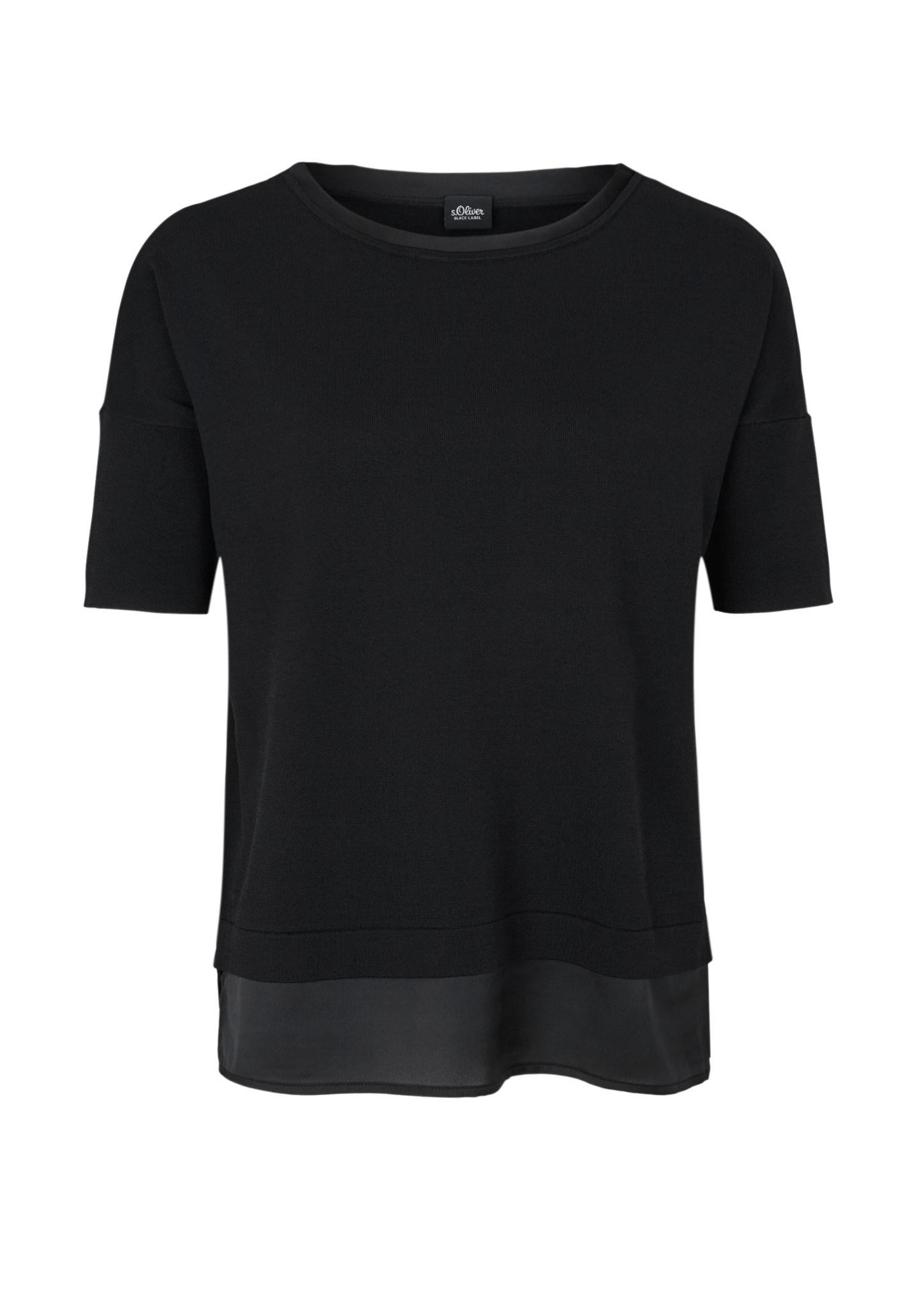 Kurzarmpullover | Bekleidung > Pullover > Kurzarmpullover | Schwarz | Oberstoff: 65% viskose -  35% polyamid: blende: 100% polyester | s.Oliver BLACK LABEL