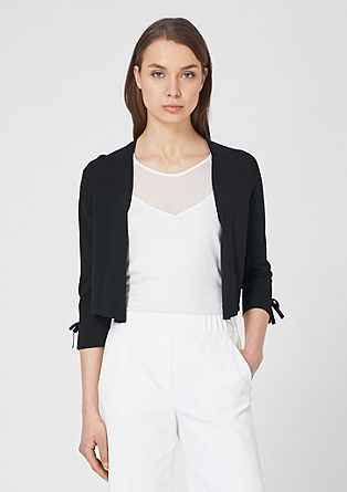 Cropped cardigan with bows from s.Oliver