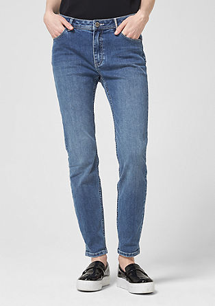 Sienna Slim: Jeans with jewellery details from s.Oliver