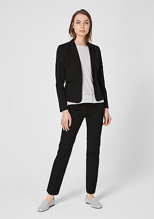 Sue Slim: trousers with pressed pleats from s.Oliver