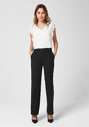 Charlotte Wide: krepové kalhoty