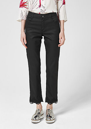 Sally Straight : pantalon rehaussé de dentelle de s.Oliver