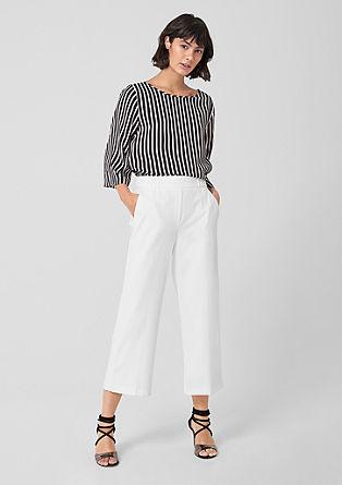 Kalhotová sukně spuky astrukturou