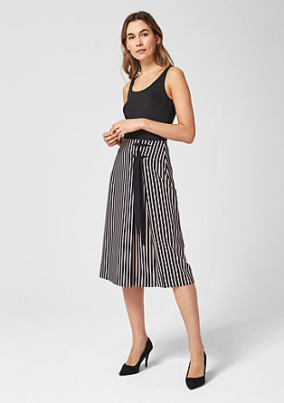 Midi skirt with a bow detail from s.Oliver