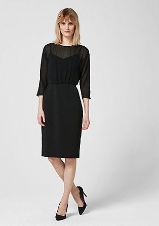 šaty ze směsi materiálů s tulipánovou sukní