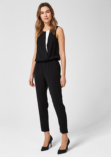 Print jumpsuit with a layered effect from s.Oliver