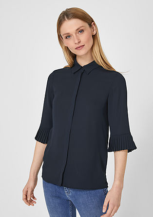 CrCrêpe blouse with pleat details from s.Oliver