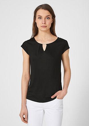 Jerseyshirt mit Schmuck-Detail