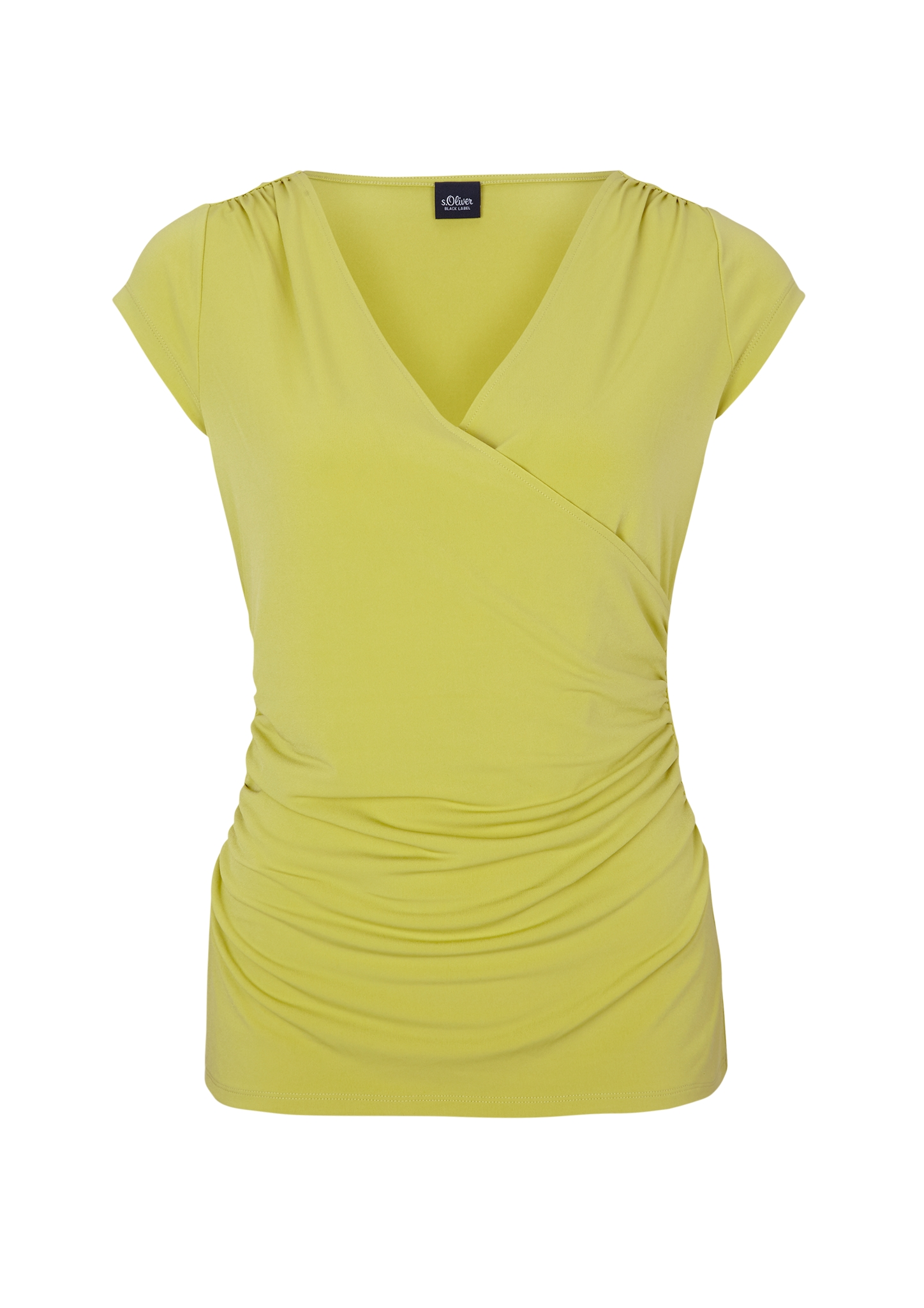 Wickelshirt | Bekleidung > Shirts > Wickelshirts | Grün | 95% polyester -  5% elasthan | s.Oliver BLACK LABEL