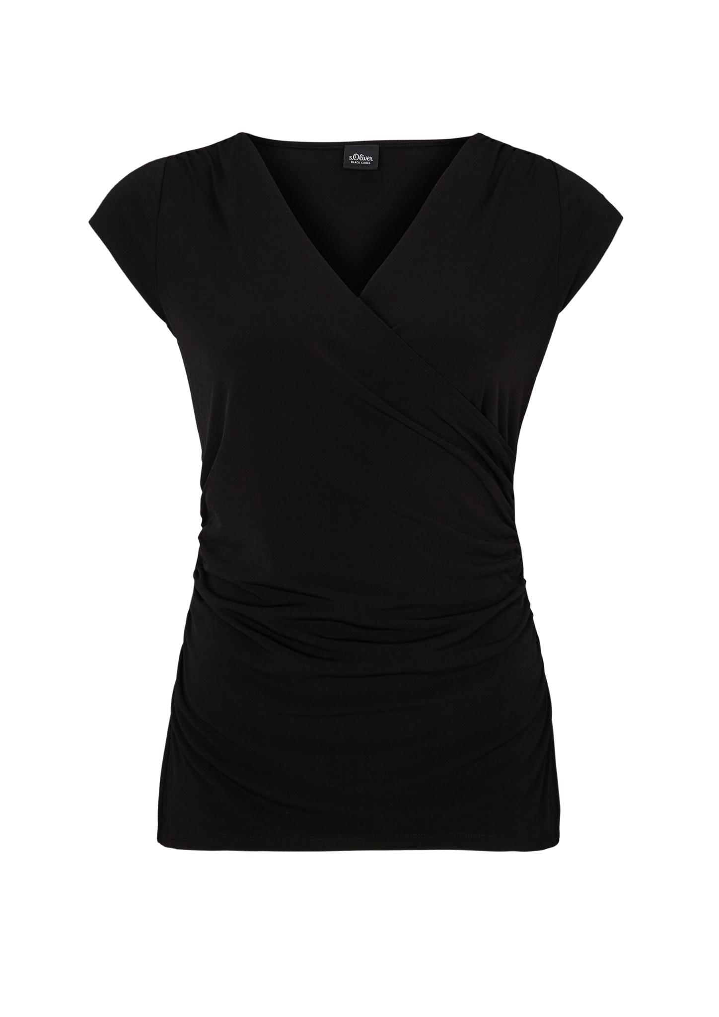 Wickelshirt | Bekleidung > Shirts > Wickelshirts | Schwarz | 95% polyester -  5% elasthan | s.Oliver BLACK LABEL