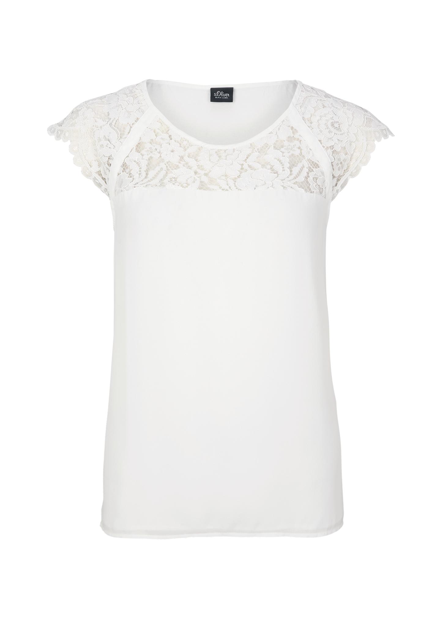Spitzenshirt | Bekleidung > Shirts > Spitzenshirts | s.Oliver BLACK LABEL