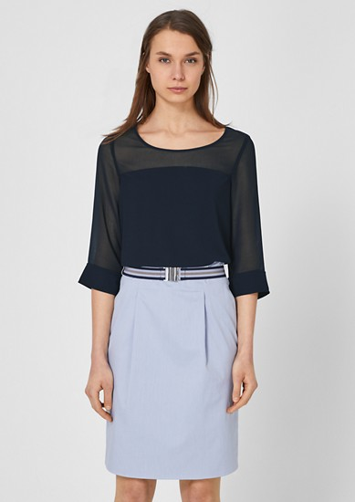 T-shirt with chiffon details from s.Oliver