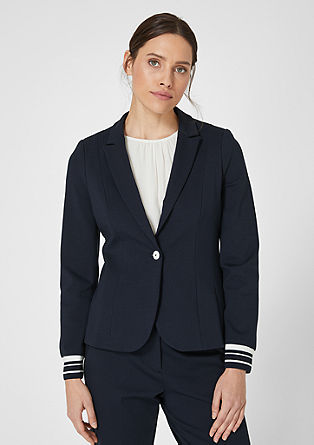 Fitted blazer with cuffs from s.Oliver