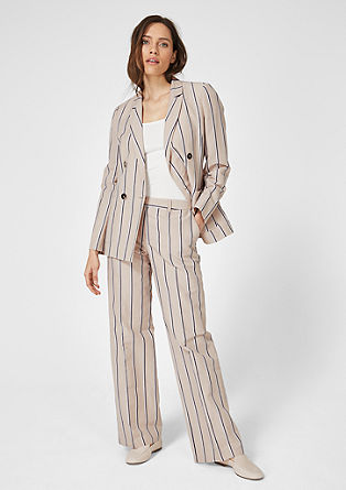 Striped blazer in a linen blend from s.Oliver
