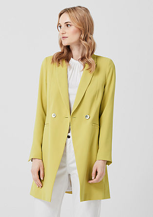 Long blazer with shiny buttons from s.Oliver