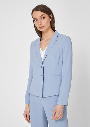 Elegant crêpe business blazer from s.Oliver