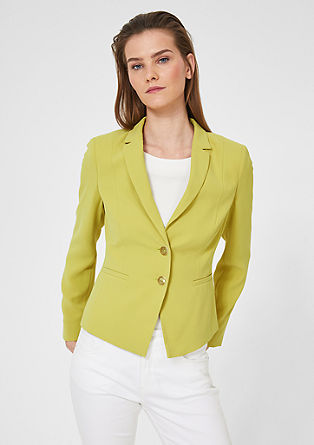 Elegante business blazer van crêpe