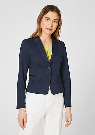 Cotton satin business blazer from s.Oliver