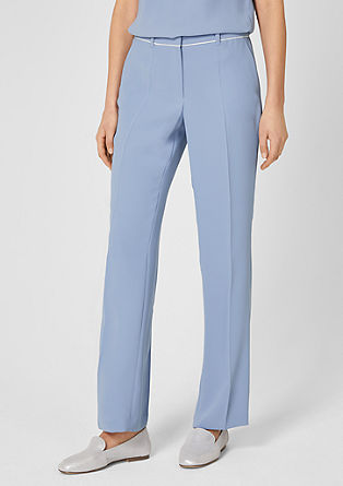 Charlotte Wide: Elegant crêpe trousers from s.Oliver