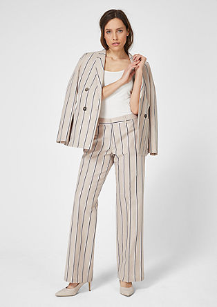 Charlotte Wide: Blended linen trousers from s.Oliver