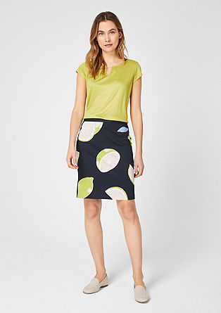 Stretch skirt with a printed pattern from s.Oliver