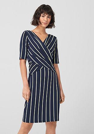 Jersey jurk met wikkeleffect