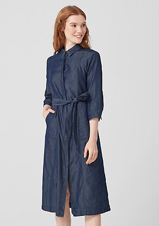 Chambray dress with 3/4-length sleeves from s.Oliver